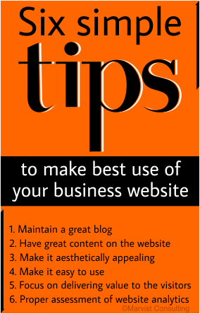 six simple tips to make best use of your business website