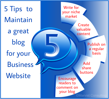 5 tips on how to maintain a great blog